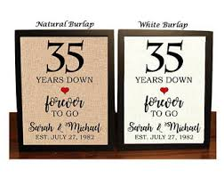 35th wedding anniversary gifts 35th anniversary etsy