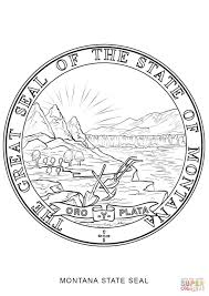 montana state seal coloring page free printable coloring pages