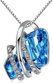swarovski necklace blue stone images Presented by miss new york leafael quot wish stone quot swarovski crystal jpg