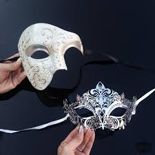 masquerade masks for couples couples masquerade mask his hers luxury phantom masquerade