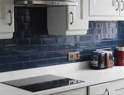 blue kitchen tiles dark blue glass tiles petrol blue juice glass tiles