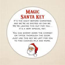 santa key magic santa key labels 37mm paper label christmas