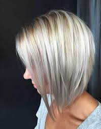 silver hair with blonde lowlights graduated bob hairstyles are the latest trend graduated bob