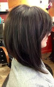 slightly angled long bob long hair angled bob hair style and color for woman