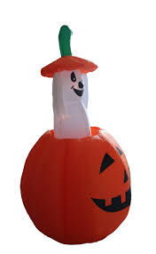 halloween inflatable amazon com 4 foot animated halloween inflatable pumpkin and ghost