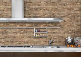 interior awesome brick style kitchen wall tiles grey metal