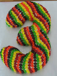 been there baked that number three shaped skittles cake