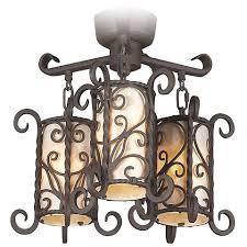 Chandelier Ceiling Fan Light Kit Iron Scroll Mica Glass Ceiling Fan Light Kit 16395 Lamps Plus