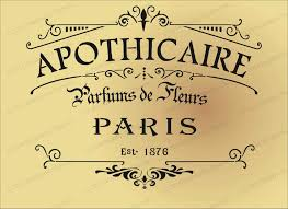 french style shabby chic apothicaire stencil wants pinterest