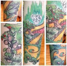 yellow brick road tattoo by rekit on deviantart