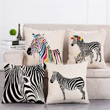 Pillow Decorative For Sofa by Online Get Cheap Zebra Decorative Pillows Aliexpress Com