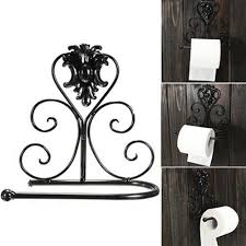 Wrought Iron Bathroom Accessories by Artistic Iron Hand Towel Holder Complete With Toilet Paper Holder