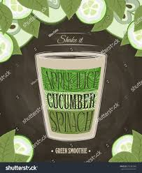 green smoothie recipe apple juice cucumber stock vector 292303340