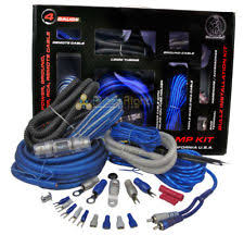 4 gauge amp kit complete power cable and wiring for car amplifier