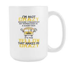 Crazy Mugs by Crazy Bus Driver 15 Oz Coffee Mug Bus Driver
