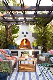 unique fireplaces outdoor fireplaces ideas for garden terrace and balcony hommeg