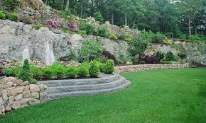 Landscaping Ideas For Sloped Backyard Chic Sloping Backyard Landscape Ideas Landscape Design Ideas For