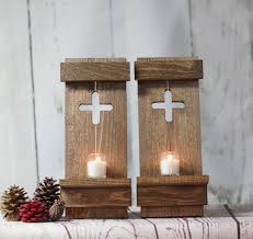 rustic wooden wall sconce wedding decor wooden wall candle