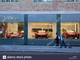 ferrari showroom h r owen ferrari showroom knightsbridge london stock photo