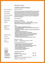 technical project manager resume cover letter
