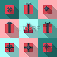 wrapping gift boxes flat gift box icon set with different bows gift wrapping gift