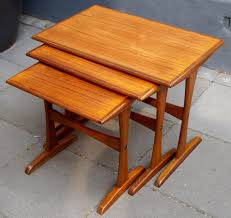 mid century danish teak nesting tables for sale at pamono