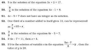 best ideas of worksheets on simple equations for grade 7 with