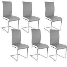 chaises grise lot 6 chaises grise achat vente pas cher