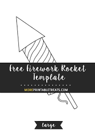 free firework rocket template large shapes and templates