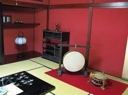 red and black japanese living room interior diversity