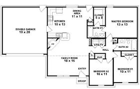 single story floor plans one bedroom open floor plans processcodi