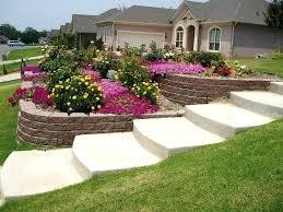 Ideas Landscaping Front Yard - sloped backyard design ideas full image for sloped front yard