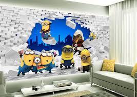 tapisserie chambre d enfant papier peint tapisserie 3d chambre enfant les minions idées pour
