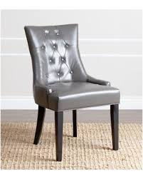 Dining Chairs Grey 10 Abbyson Living Napa Grey Leather Dining Chair