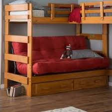 twin over futon standard bunk bed with underbed storage bunkbed