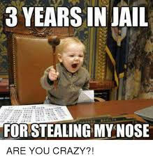 Are You Crazy Meme - 3 years in jail for stealing mynose are you crazy crazy meme