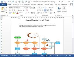 flow chart format in word process flow chart template microsoft