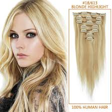 16 inch hair extensions inch clip in remy human hair extensions 18 613 mixed