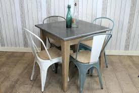 Industrial Bistro Table Chic Cafe Bistro Table Square Top Restaurant Tables Vintage
