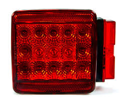 led trailer tail lights square led trailer light kit 4 1 2 led brake turn tail license
