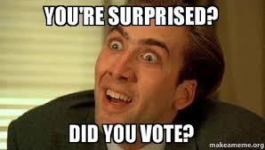 Suprised Meme - you re surprised did you vote sarcastic nicholas cage make a