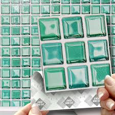 18 glass mosaic effect wall tiles 2mm thick and solid self