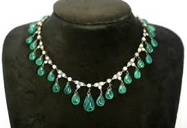 black drop necklace images Antique emerald drop necklace for sale at 1stdibs jpg