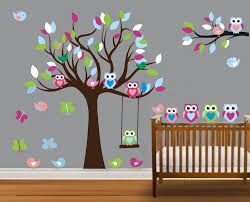 Owl Wall Decals Nursery by Family Tree Wall Sticker Gardens And Landscapings Decoration