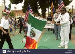 Illegal To Burn American Flag Demonstrators Burn The Flag Of Mexico In April 2006 In Tucson