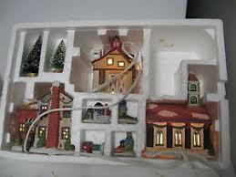 older porcelain holiday memories trim a home christmas village