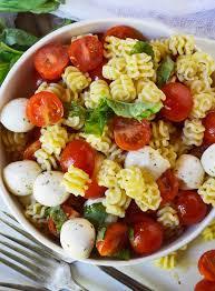 pasta salad caprese pasta salad recipe wonkywonderful