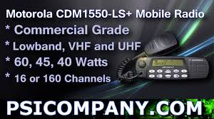 motorola cdm1550 ls mobile radio overview youtube