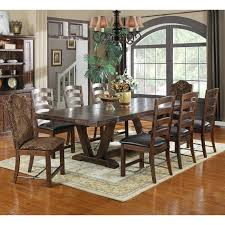 Home Furniture Dining Sets Emerald Home Castlegate Trestle Dining Table With 12 In Leaves