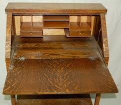 Antique Drop Front Desk Antique Drop Front Desk With One Drawer